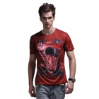 XINGLONG 3D Printing Animal Cobra Motifs Men's T-shirt - Red brown + Multicolor (Size L)
