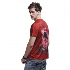 XINGLONG 3D Printing Animal Cobra Motifs T-shirt homme-brun rouge + Multicolor (taille L)