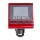 "C&Q C&Q-816C 1.2"" LED Screen Wireless FM Modulator Car MP3 Player w/ Remote Control - Black + Red"