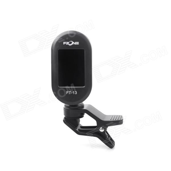 FZONE FT-13 universal Clip-On digital Guitar Tuner - Negro