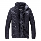 Men's Fashionable Casual Cozy Warm Keeping Blending + Rayon Jacket - Black (Size XXL)