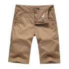 Men's Fashionable Casual Cozy Cotton Short Pants - Khaki (Size 32)
