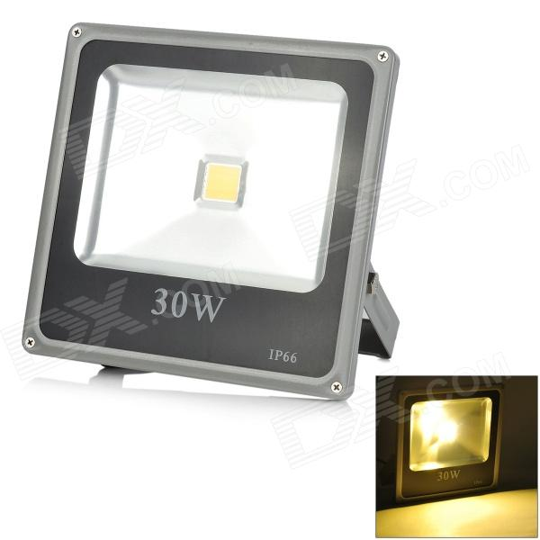 LeXing LX-TGD-6 30W 1500lm 3500K LED Warm White Spotlight w/ Stand - Black + Silver Grey (85~265V)
