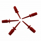 ABS Large Wire Test Hooks - Red (5 PCS)