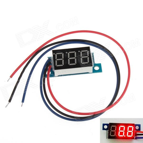 YB02 3-Digit 0.36 LED Red Digital Display Module for Electric Motorcycle / Car - Multicolored 100 pcs ld 3361ag 3 digit 0 36 green 7 segment led display common cathode