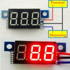 "YB02 3-Digit 0.36"" LED Red Digital Display Module for Electric Motorcycle / Car - Multicolored"