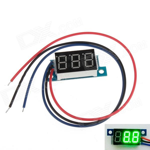 YB03 3-Digit 0.36 LED Green Digital Display Module for Electric Motorcycle / Car - Multicolored saq high voltage board w cable for tube of 10 22 lcd monitor green multicolored