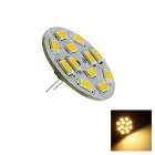 G4 6W 230lm 3000K 12 x SMD 5730 conduit ampoule chaude blanche lumineuse verticale Pin - (DC 12V)