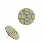 G4 6W 230lm 3000K 12 x SMD 5730 LED Warm White Light Vertical Pin Spot Bulb - (DC 12V)