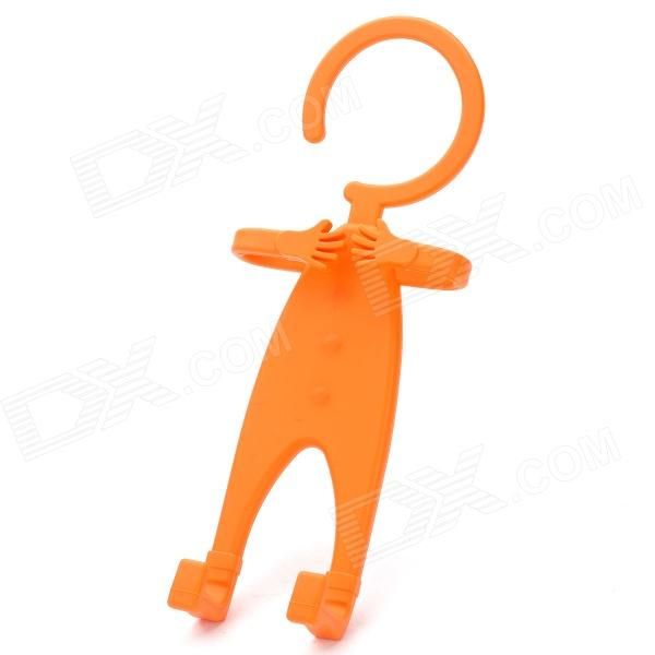 Multifunction Universal Human-Style Silicone Cellphone Holder - Orange