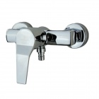 Wall-in Modern Two Holes Shower Hot / Cold Faucet - Silver