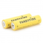 FANDYFIRE 3.7V 650mAh 14500 Li-ion Rechargeable Batteries - Yellow (2 PCS)