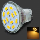 MR11 6W 280lm 3000K 12 x SMD 5730 LED Warm White Light Lamp Bulb - White (DC 12V)