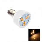 E14 2W 80lm 3000K 6 x SMD 5630 LED Warm White Energy Saving Light Bulb - (AC 220~240V)