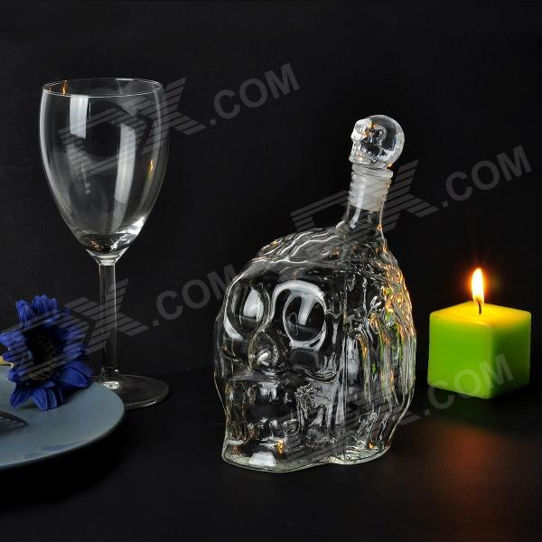 Zombie Glass Decanter Creative Skull Head Winebottle - Transparent (650ml)