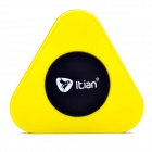 Itian A3 QI Standard Wireless Charger + Receiving Module for Samsung Galaxy S4 i9500 - Yellow