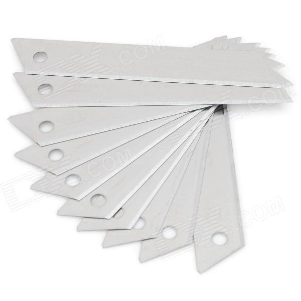 3321 Carbon Steel Alloy Utility Knife Blades - Silver (10 PCS) szblaze 6061 aluminum alloy tube clap long track ice speedskating blades frames 60hrc dislocation skate shoes knife 1 1mm frame