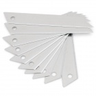 3321 Carbon Steel Alloy Utility Knife Blades - Silver (10 PCS)