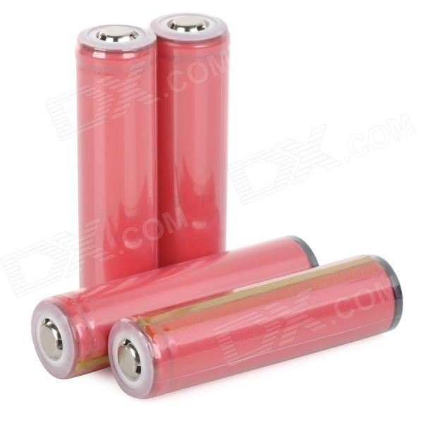 SANYO 2600mAh Rechargeable Li-ion 18650 Battery - Red + Golden (4 PCS) liitokala 2pcs li ion 18650 3 7v 2600mah batteries rechargeable battery with portable battery box and 2 slots usb smart charger