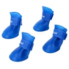 Anti-skid Pet Dog Rainshoes - Blue (Size M / 4 PCS)