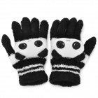 Cartoon Panda Style Cashmere Five Finger Capacitive Screen Touching Hand Warmer Gloves (Pair)