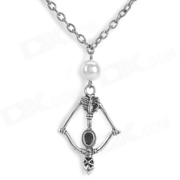 Europe and America Bow & Arrow Style Zinc Alloy Pendant Necklace - Silver