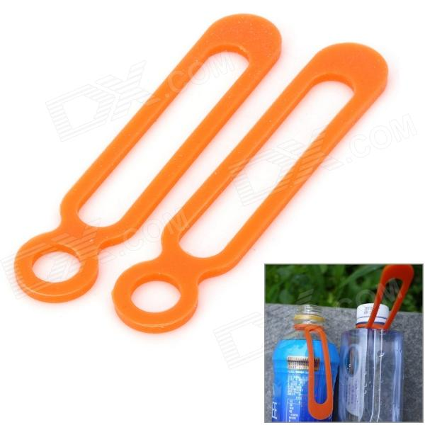 EDCGEAR Outdoor Camping / Cycling Elastic Silicone Cable Ties - Orange (2 PCS)