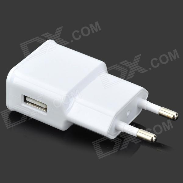где купить 5V 2000mA EU Plug Power Adapter - White (100~240V) дешево