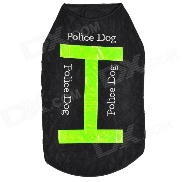LIT Nylon Vest w/ Reflective Stripe for Pet Dog - Black + Green (L) universal nylon cell phone holster blue black size l