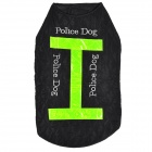 LIT Nylon Vest w/ Reflective Stripe for Pet Dog - Black + Green (L)