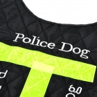 Nylon Vest w/ Reflective Stripe for Pet Dog - Black + Green (L)
