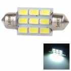 SENCART 2.8W Festoon 36mm 100lm 9500K 9-5730 SMD LED Cool White Light Lamp - Silver + Yellow (9~36V)