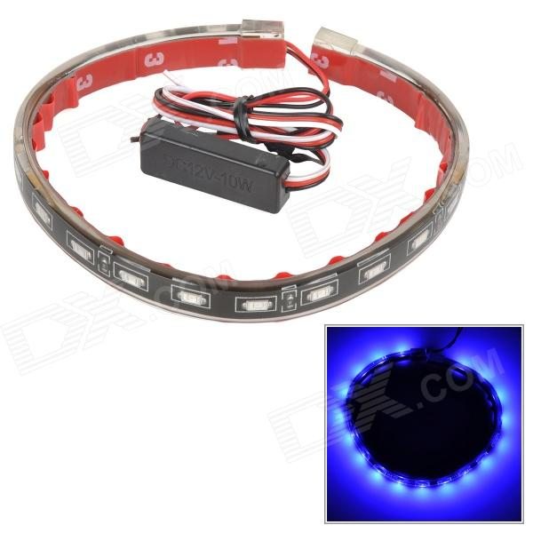 SENCART 4W 16lm 18-5730 SMD LED Double Mode Blue Light IP65 LED Strip - Black (12V / 40cm)