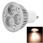 LetterFire GU10 6W 180lm 3000K 3-LED Warm White Spotlight - Silver