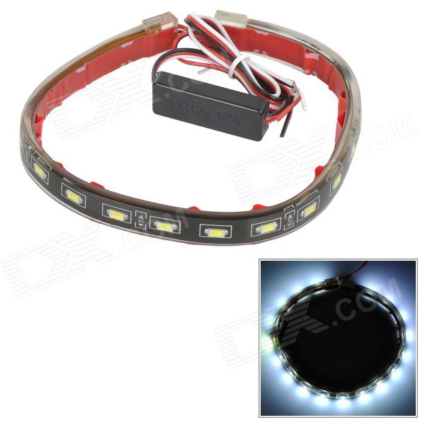 SENCART 4W 125lm 10000K 18-5730 SMD LED Cool White Light IP65 LED Strip - Black (12V / 40cm)