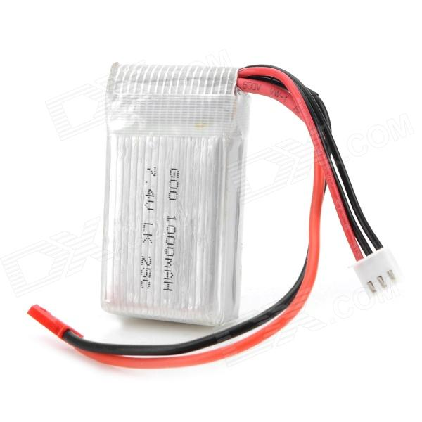 7.4V 1000mAh R/C Helicopter Li-ion Polymer Battery for WLtoys V912 - Silver + Red + Multicolored