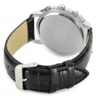 Zhongyi 612 PU Leather Wristband Quartz Analog Wrist Watch for Men - Black + White (1 x 626)
