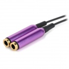 S-What 3.5mm Male to 2 x Female Metal Audio Cable - Black + Purple