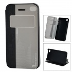 HELLO DEERE Protective PU Case w/ Stand for IPHONE 4G / 4S - Black