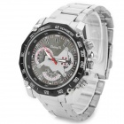 Zhongyi W804 Stylish Quartz Wrist Watch for Men - Silver + Black + Multi-Colored (1 x 626)
