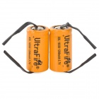 UltraFire A-04 XSL 3.7V 700mAh Rechargeable 18350 Battery w/ Welding Plate - Orange + Black (2 PCS)