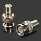 Monitoring Q9 RCA Female Jack to BNC Male Plug Connector Adapter - Silver (2 PCS)