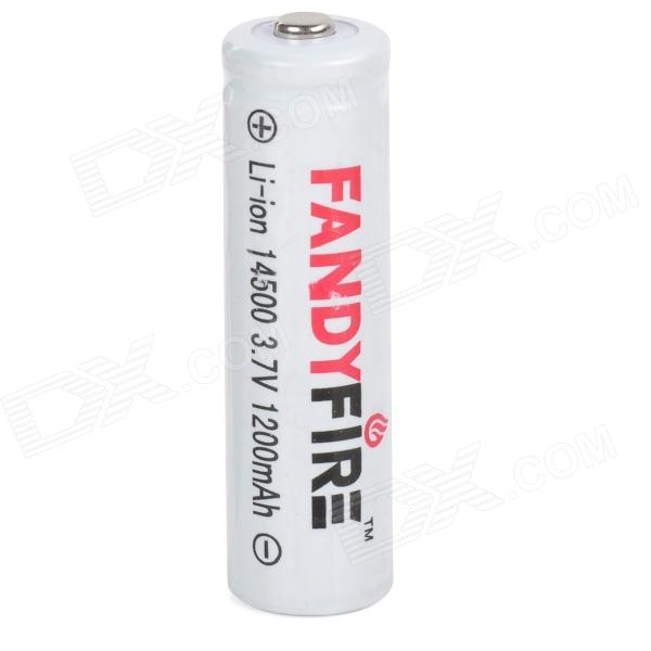 FANDFIRE 3.7V 750mAh Rechargeable Li-ion 14500 Battery - White fandyfire protected 14500 rechargeable 3 7v 400mah li ion batteries white pair