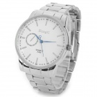 Zhongyi W620 Quartz Steel Band Alloy Shell Analog Wrist Watch for Men - Silver + White (1 x 626)