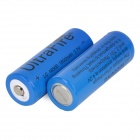 ultrafire 18500 3.7V 1750mAh Rechargeable Li-ion Battery for Flashlight - Navy Blue (2 PCS)