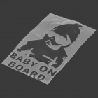 Baby on Board Car Reflective Sticker - Preto