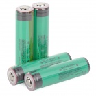 3000mAh Rechargeable 18650 Battery w/ Protection IC - Green (4 PCS)