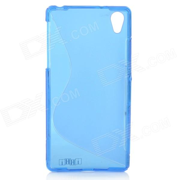 IKKI ''S'' Shaped Anti-skid Protective TPU Back Case for Sony Xperia Z2 / D6503 - Blue ikki x pattern protective tpu case for sony xperia z2 tablet p511 p512 translucent blue