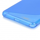 IKKI ''S'' Shaped Anti-skid Protective TPU Back Case for Sony Xperia Z2 / D6503 - Blue