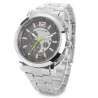 Zhongyi W803 Steel Wristband Quartz Analog Wrist Watch for Men - Silver + Black (1 x 626)